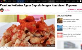 Camilan Kekinian Ayam Geprek dengan Kombinasi Popcorn – VIVA